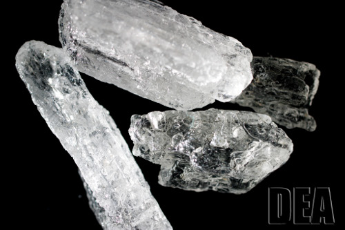 crystal meth close up